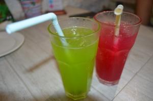 Kiwi and Strawberry Lemonades