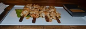 Street chicken satay with peanut sauce