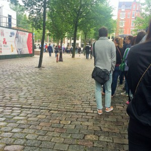 The Anne Frank House queue which goes all around the block
